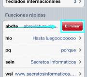 eliminarAbreviaturaDeTecladoEniPhone
