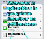seleccionAplicacionParaDesactivarNotificacionEniPhone